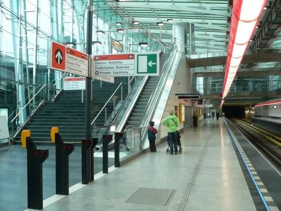Metro Praha a stanice Střížkov