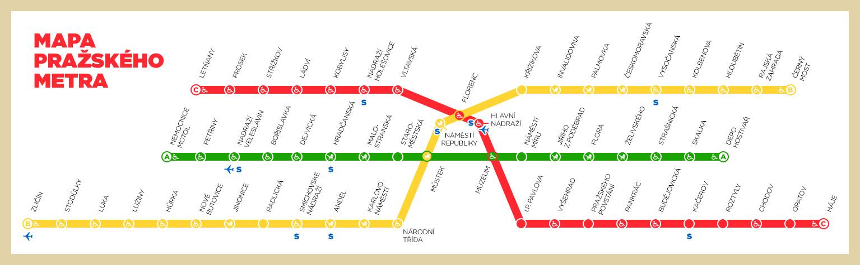 Praha metro jízdní řád trasa a