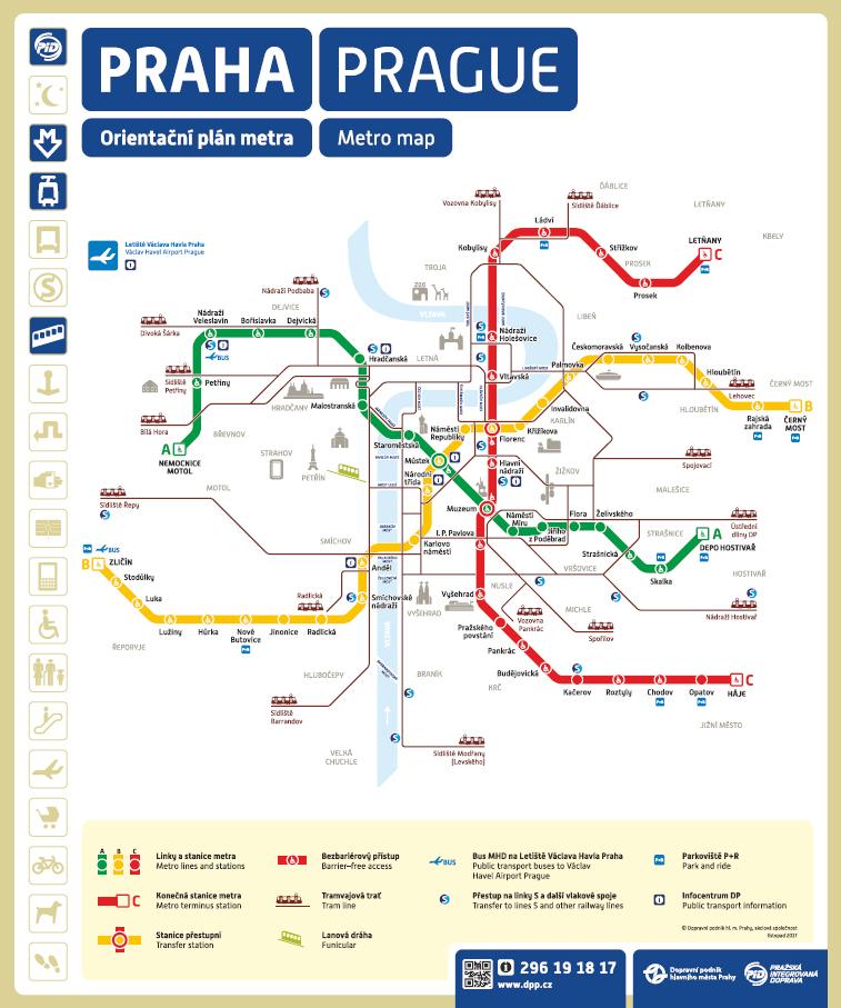 Mapa Praha Mapa Metro